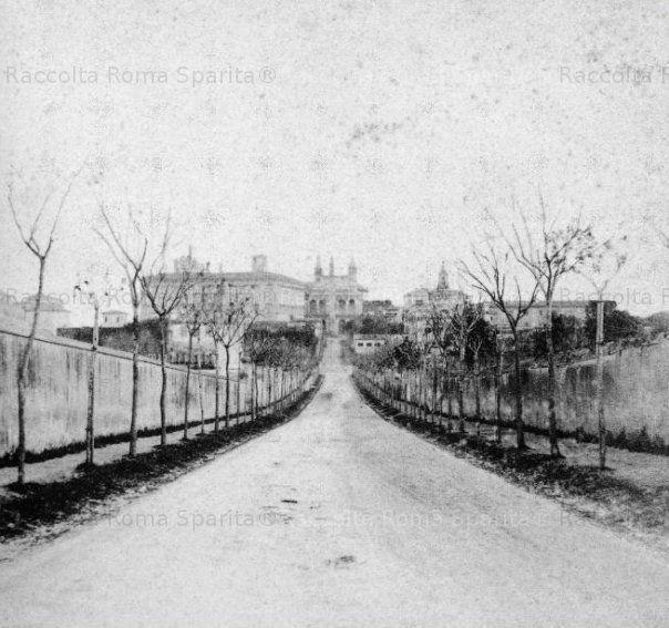 Via Merulana 1858 sullo sfondo San Giovanni