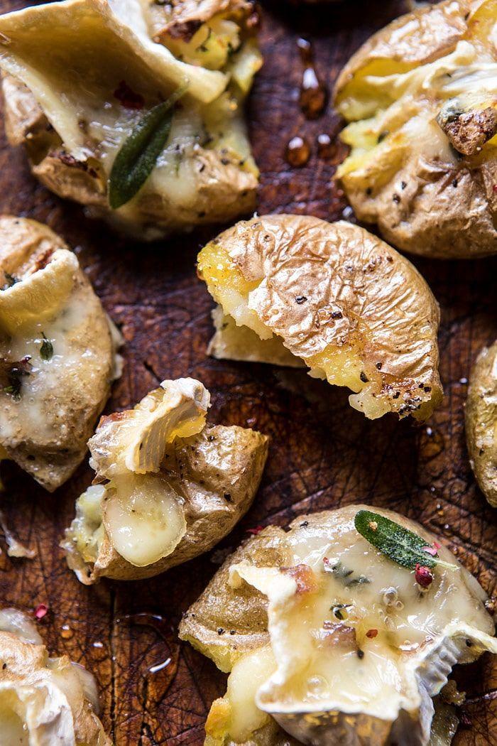 Brie Stuffed Crispy Baby Potatoes | halfbakedharvest.com @hbharvest