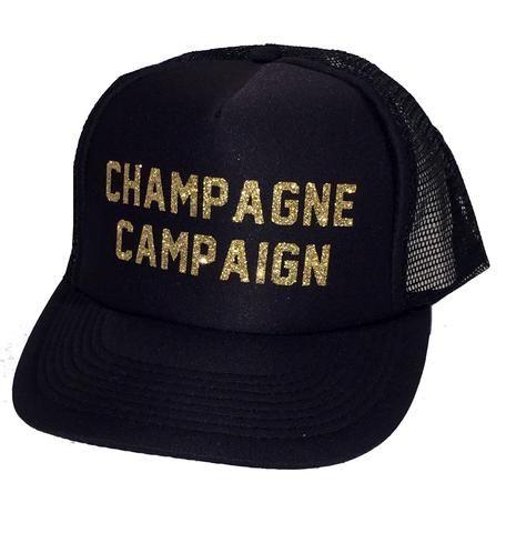 Champagne Campaign Glitter Trucker Hat