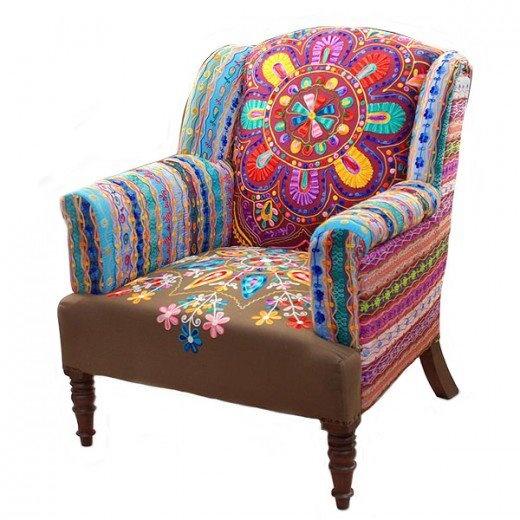 sillón bordado