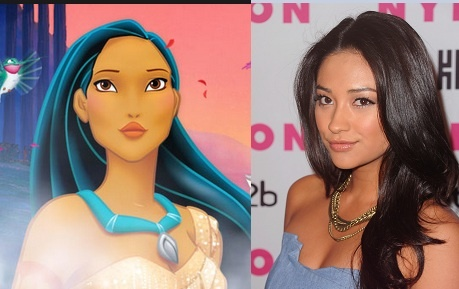 Shay Mitchell as Pocahontas! Disney girls + their celeb ...