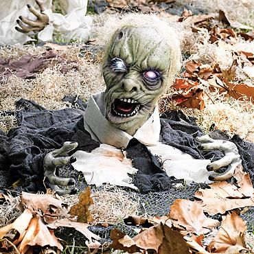 Larry the Zombie Animated Halloween Prop. The ZomBeatles -- A Hard Day's Night of the Living or Walking Dead! Halloween Party Decorations & Ideas