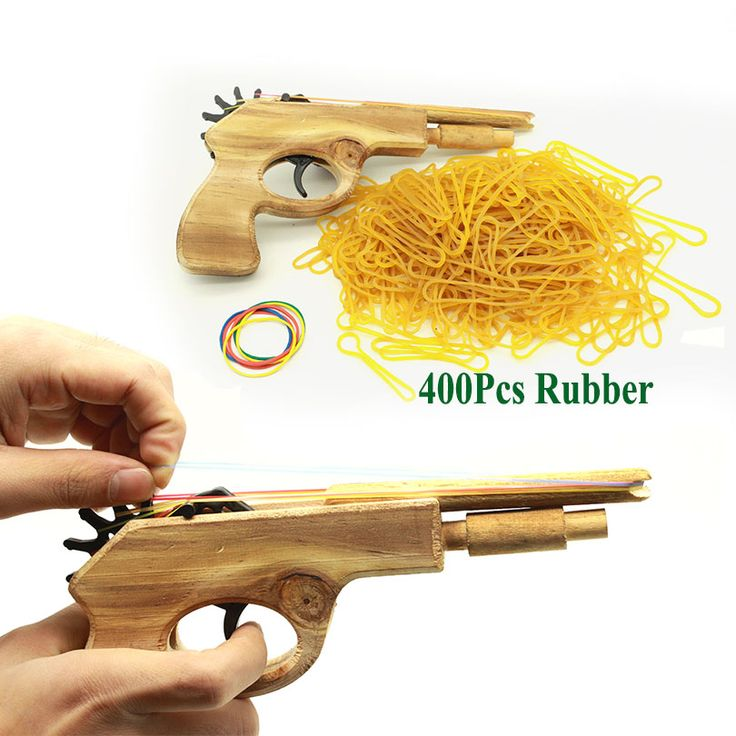 無制限弾丸古典的なゴムバンドランチャー木製ハンドピストル銃射撃のおもちゃ銃ギフト男の子屋外楽しいスポーツ用キッズ