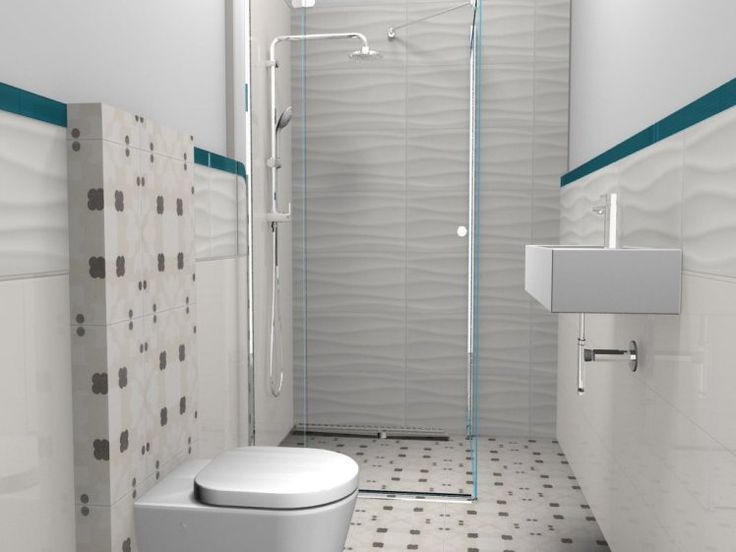 small bathroom, white, shower, turquise, interior design