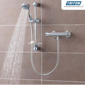 Triton Dene Cool Touch Bar Mixer Shower [PT-UNDETHBMCT] - £104.99 : Platinum Taps & Bathrooms
