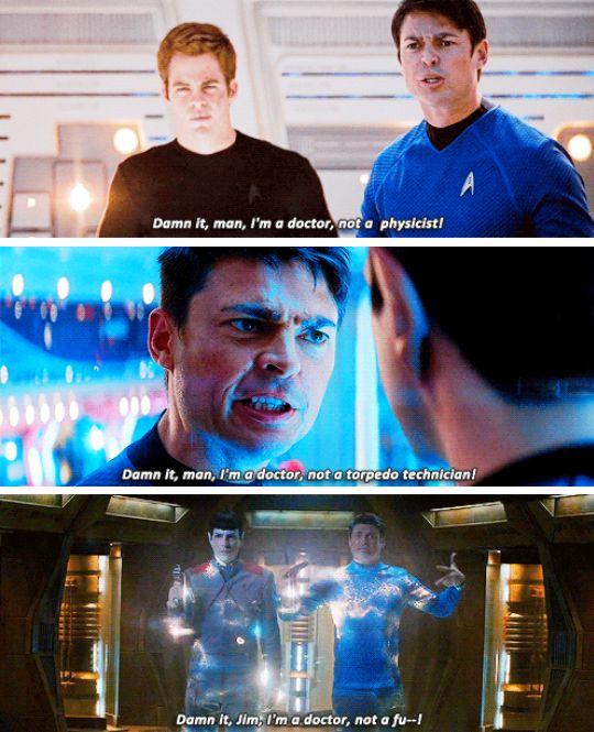 Star Trek, Star Trek Into Darkness & Star Trek Beyond | Bones