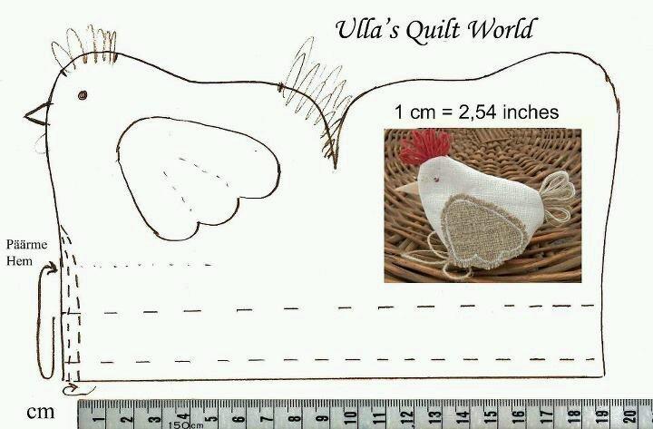 DIY nähen Huhn/Hahn/Ostern Nadelkissen Schnitt - - - - - - chicken pincushion