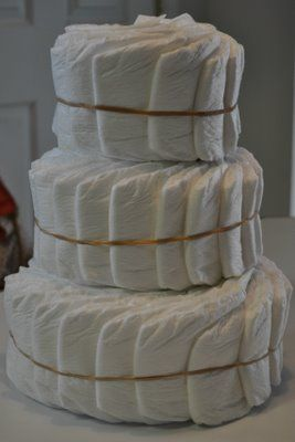 Diaper Cake Instructions: How to make a spiral, boutique style diaper cake! This could be much easier than the individually rolled diapers I usually do.