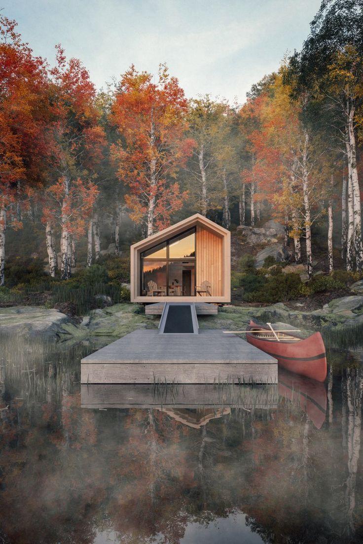 leckie studio entwirft eine vorgefertigte, untief gepackte Kabine zum Besten von Hüttenbetriebe