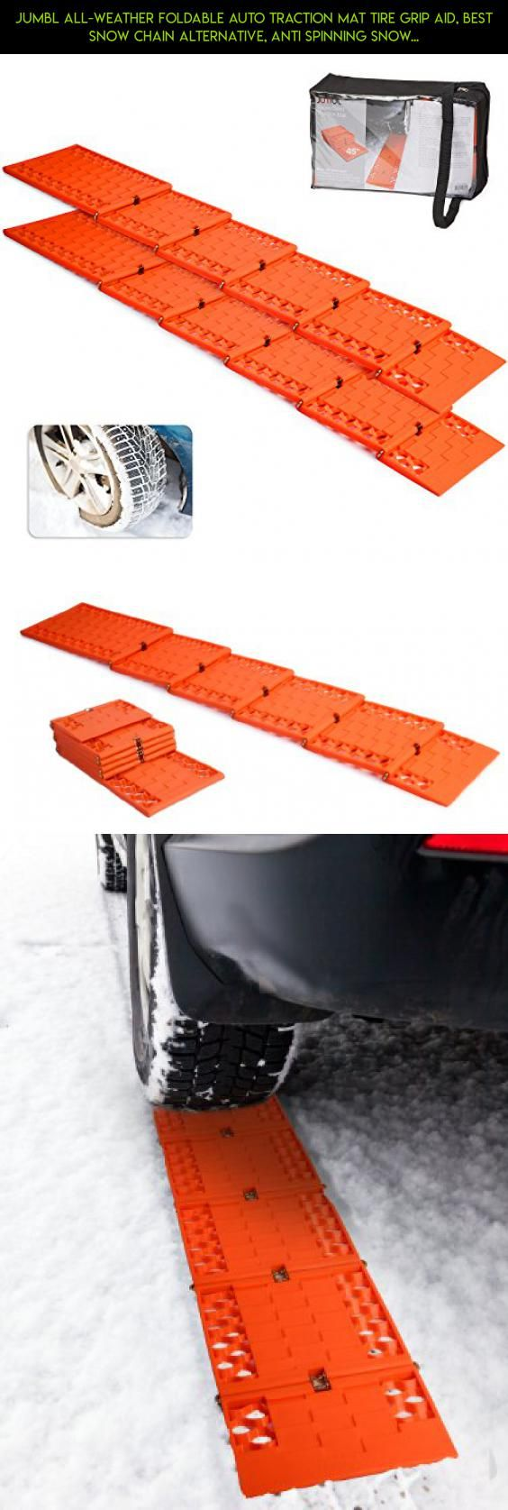 Jumbl All-Weather Foldable Auto Traction Mat Tire Grip Aid, Best Snow Chain Alternative, Anti Spinning Snow Grabber, Ideal To Unstuck Your Car From Snow, Ice, and Mud, w Bonus Storage Pouch (2 Pack) #camera #gadgets #shopping #storage #technology #fpv #drone #products #racing #pouch #plans #parts #tech #kit