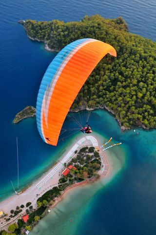 paragliding over ölüdeniz Turkey