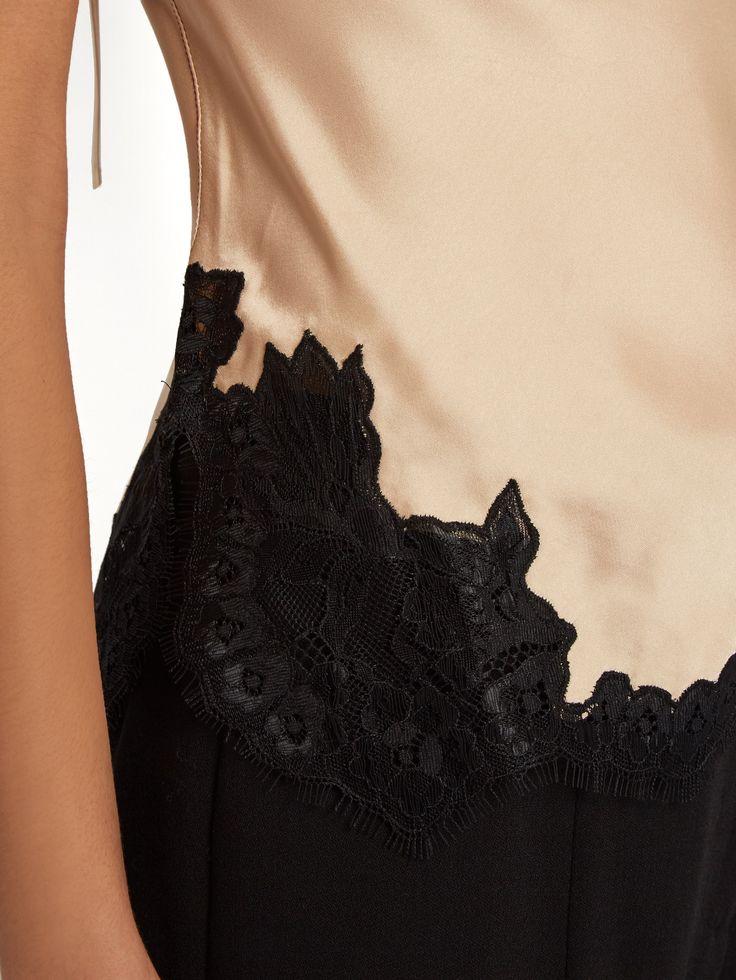 Lace-trimmed satin cami top  | Helmut Lang | MATCHESFASHION.COM