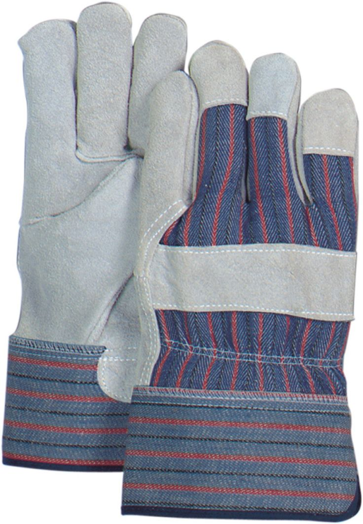 Majestic 3501C Cowhide Palm Leather Work Gloves Heavy PE Safety Cuff (DZ)