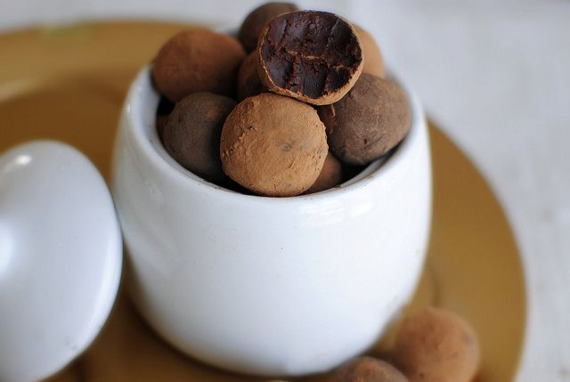 Mayan Chocolate Truffles - decadent and rich with a subtle kick of cayenne and cinnamon