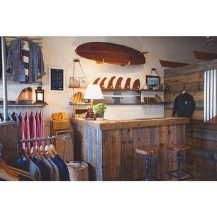 The COR Surf Rack on display at #Almond Surf Shop in Newport Beach, CA #Surfrack…