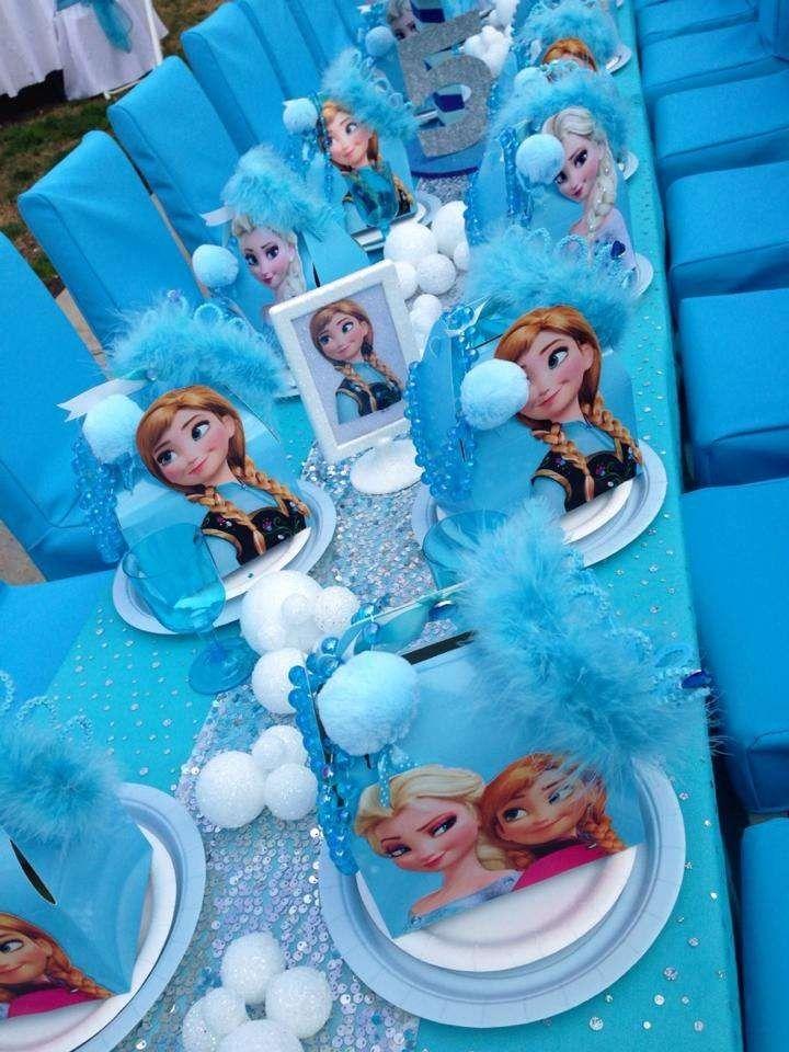 2014 Halloween Frozen Party Tables - Disney Ideas   Disney ...