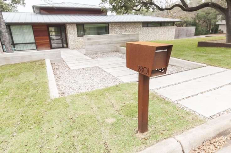 Curbside Dexter Custom Mailbox by Bold MFG - Modern Steel Mailboxes