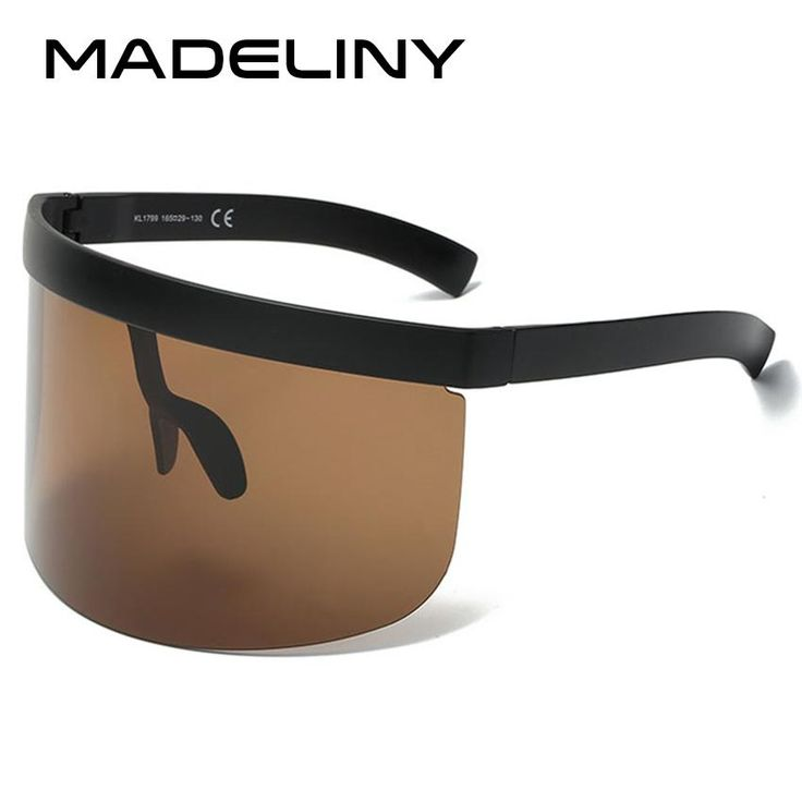 MADELINY New Oversized Women Sunglasses 2018 Huge Vintage Windproof Men Eyewear Shield Female Goggle MA249
