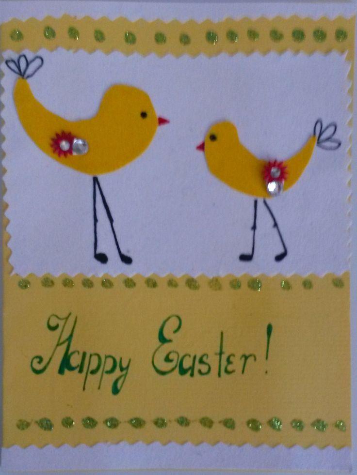 Warm handmade greetings for Easter #greetings #easter #handmade #greetingcards #papergoods #handmadewithlove #madebyhand #creativityfound #handcrafted #handmadegifts #pasqua #yellow #spring #chicken #art #artlover #artinfo #artcall #artlife #dailyart #artworld #milan #italy #lidiiart #lidiiaboichenkoart