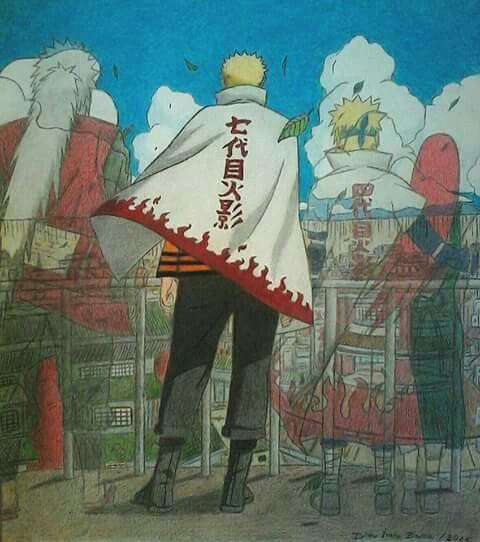 Quem diria que o naruto seria hokage!!! #momentosmarcantes♥ Naruto o sétimo hokage to certo!!!♥♥