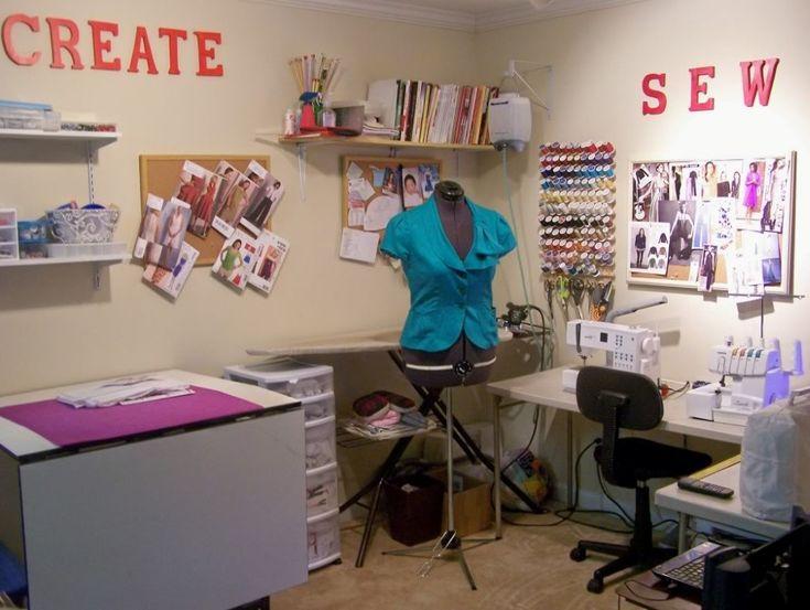 Best Sewing Room Setup Images On Pinterest Sewing Room Design