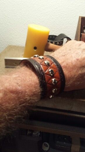 New Cuff for me. Like the 2 tone better than all dark brown.