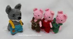 Risultati immagini per the three little pigs amigurumi