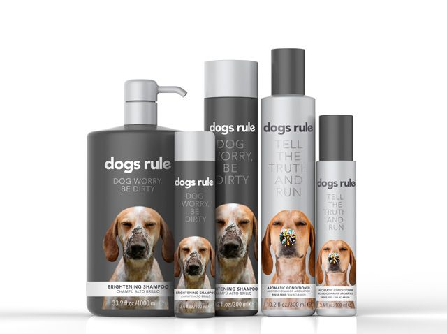 DOGS RULE.  Dogs Shampoo and Hair Conditioner. Silvia Albertí, Corinne Carbonnel, Laia Fusté & Miriam Vilaplana. Master in Packaging Design. ELISAVA 2014
