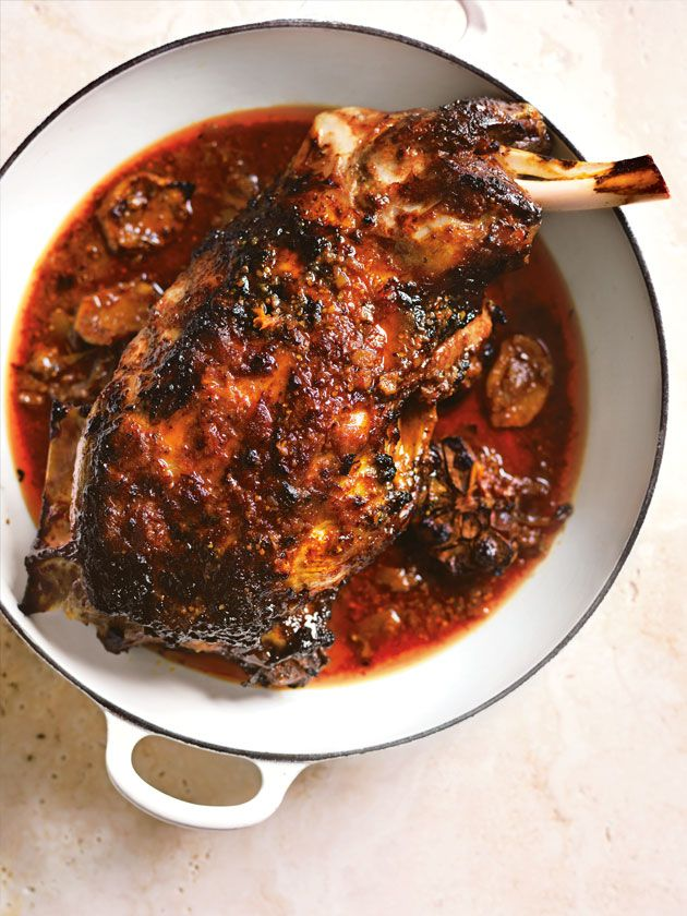 Slow Roasted Indian Lime Pickle Lamb Shoulder | Donna Hay