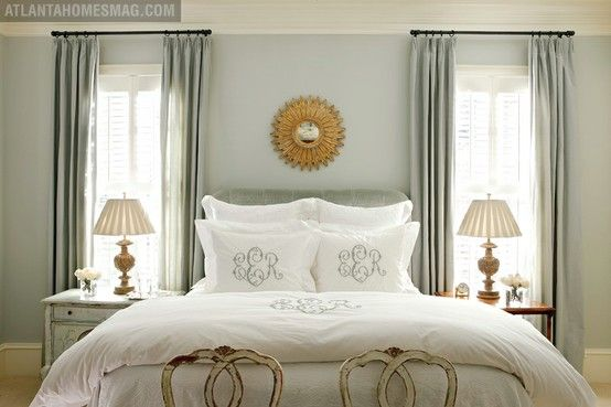 Top 100 Benjamin Moore Paint Colors (great resource w/ photos of rooms).: Window, Wall Color, Master Bedrooms, Sea Salts, Monograms Pillows, Paintings Color, Benjamin Moore, Bedrooms Ideas, Monograms Beds