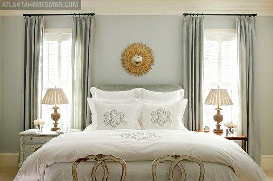 The Top 100 Benjamin Moore Paint Colors: Wall Colors, Window, Paintings Colors, Master Bedrooms, Sea Salts, Monograms Pillows, Benjamin Moore, Bedrooms Ideas, Monograms Beds