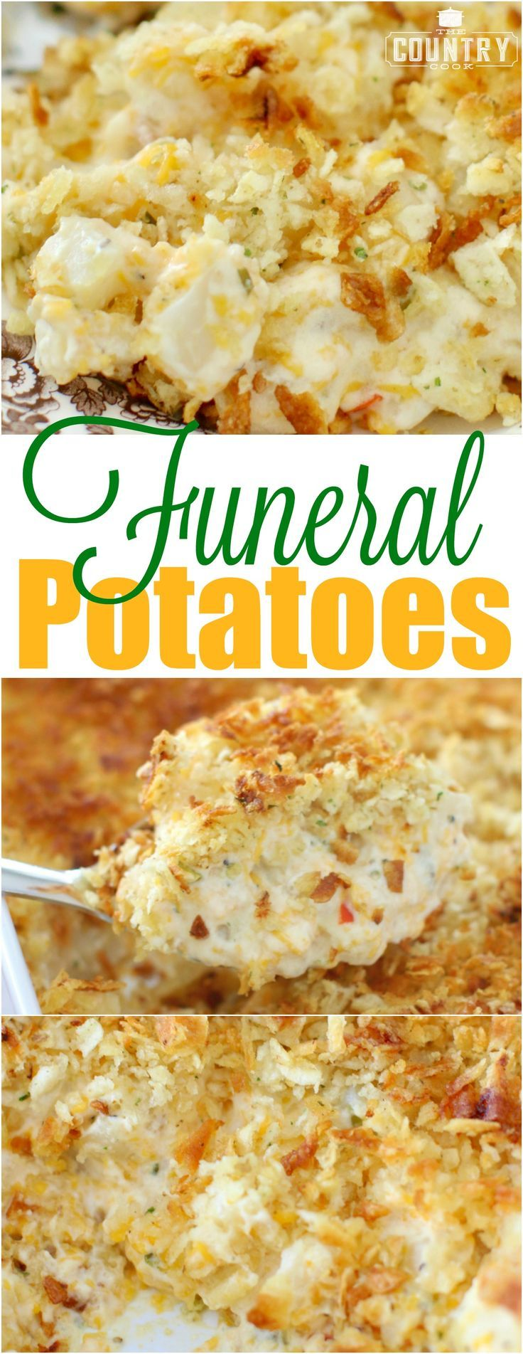 cool Funeral Potatoes recipe from The Country Cook...by http://dezdemooncooking4u.gdn