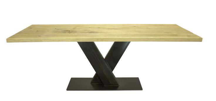 Esstisch Stahl Eiche Unser Säulentisch mit einem Stahl