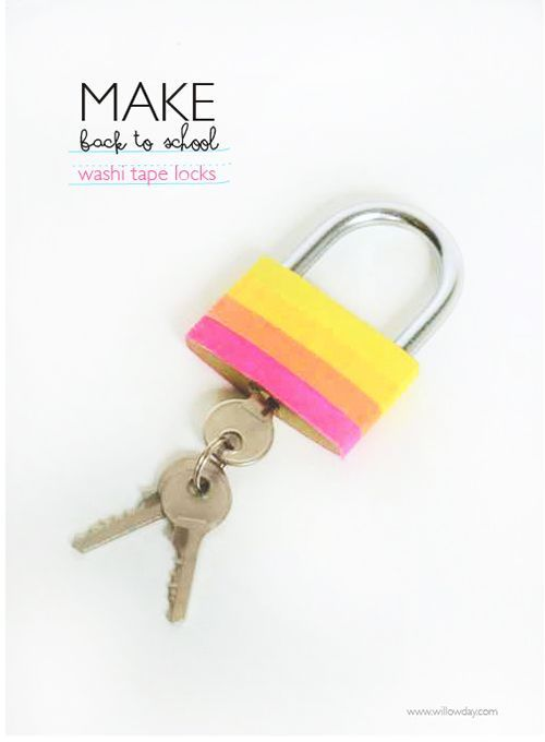 washi tape lock