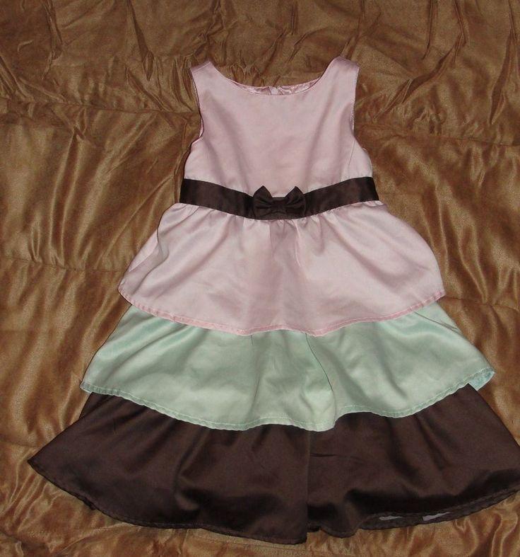 Gymboree Dress Size 4 EUC!!! Winter Ballerina Line Pink,LightGreen and Brown !  #Gymboree #ChristmasDressyHolidayPartyWedding