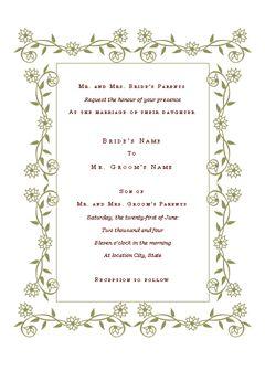 Wedding Invitations Templates Microsoft Office ~ Matik for .