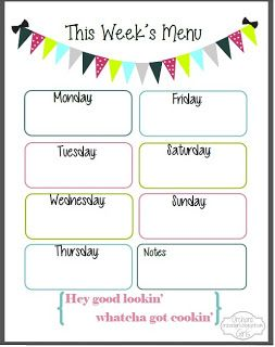 Best  Menu Planning Printable Ideas On   Menu Planner