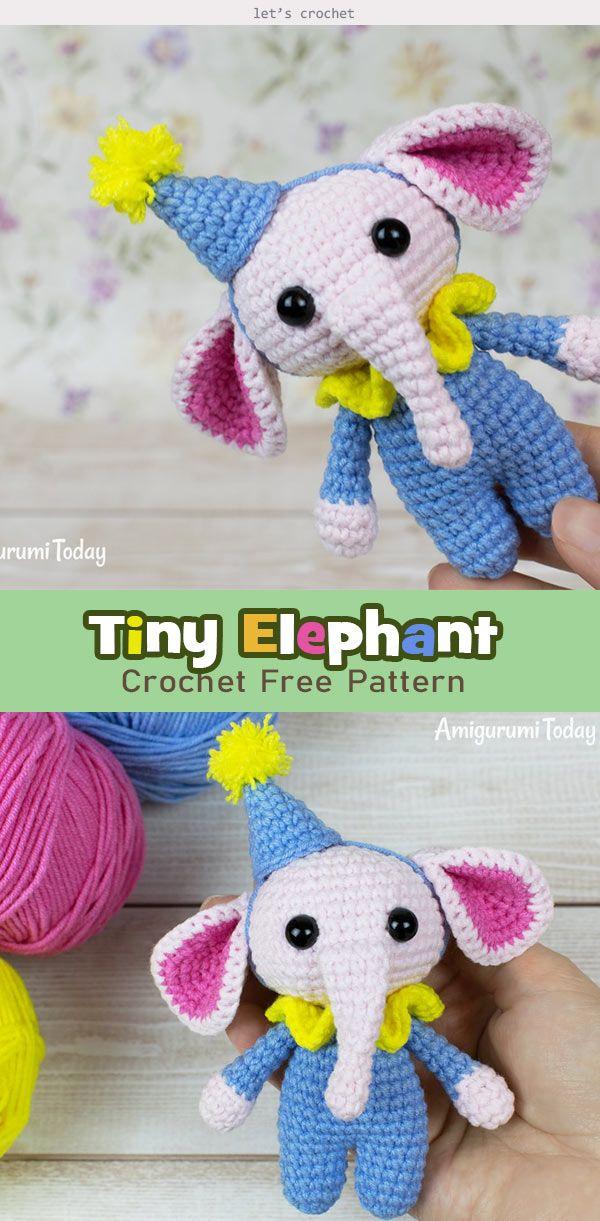 11 Free Crochet Elephant Patterns   1221x600