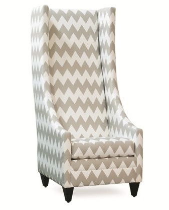 Go Big   Go Home   Tall Wing back Chair  gray  chevron www. 52 best Pull Up a Chair images on Pinterest