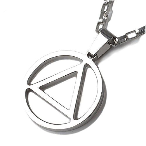 REINDEAR Hip Hop Eminem AA Logo Metal Pendant Necklace US Seller (Nekclace)