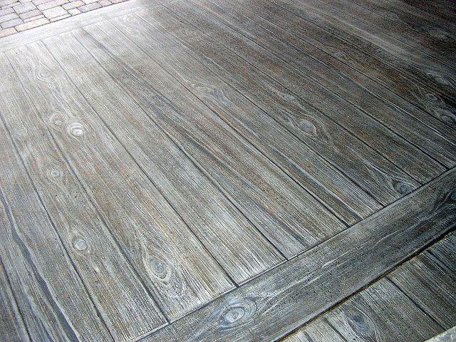Faux Wood Stamped Concrete Floors : Faux wood finish on concrete patio pinterest