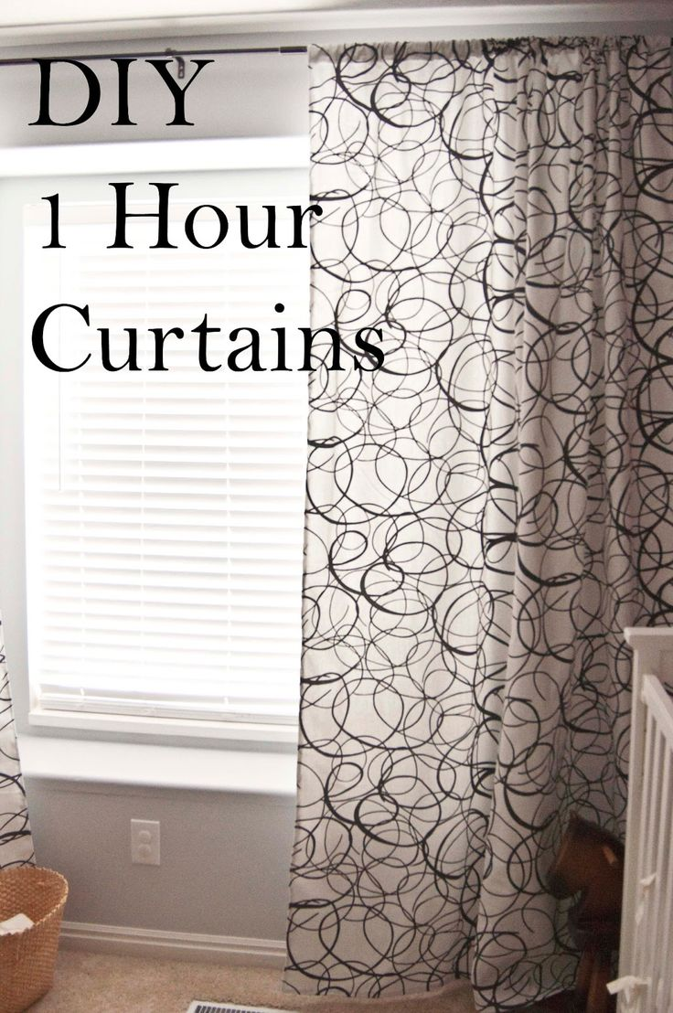 A Few Of My Favorite Things: 1 Hour Curtains (How To Make Curtains)