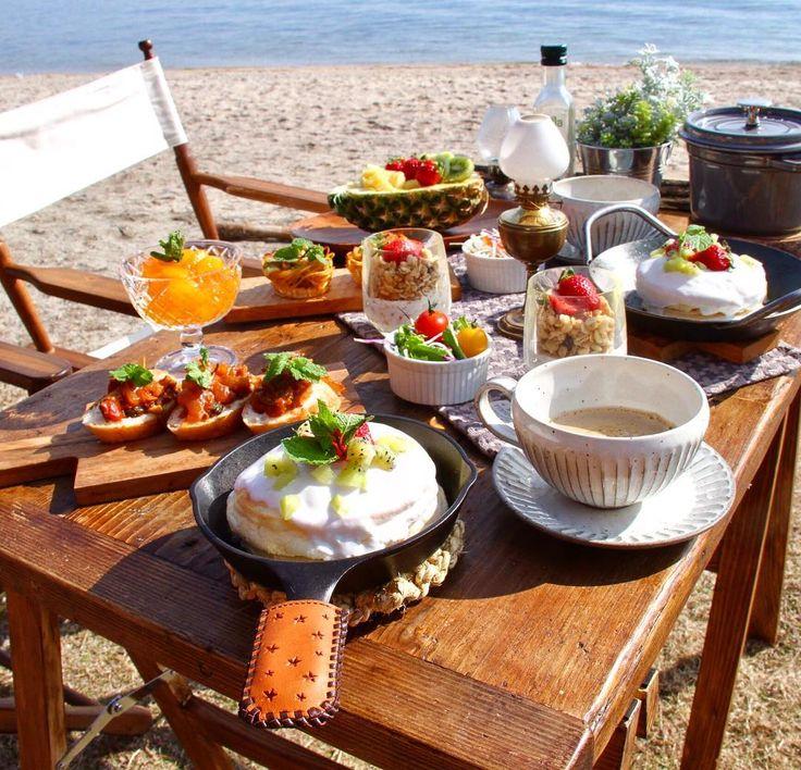 #camp #outdoor #cafe #キャンプ #アウトドア #キャンプ飯 #朝ごはん #おしゃれソトごはん #カフェ #instafood #marimariの女子キャン #6月16日発売 ...