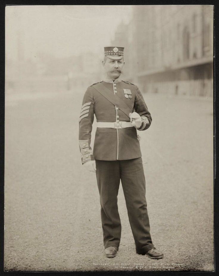 1890's PHOTO - BRITISH ARMY UNIFORM PAY SERGEANT 2nd SCOTS GUARDS