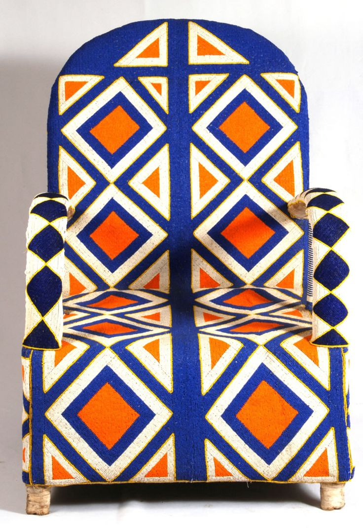 Beaded Yoruba chair Out Of This