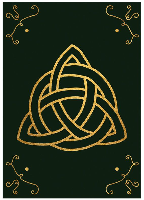 Triquetra Magic Symbol Witch Gold Witchy Protection Etsy Magic Symbols Triquetra Wiccan Wallpaper