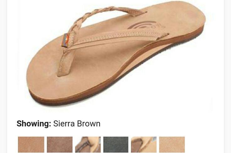 rainbow flirty braided arched support sierra brown flip flops
