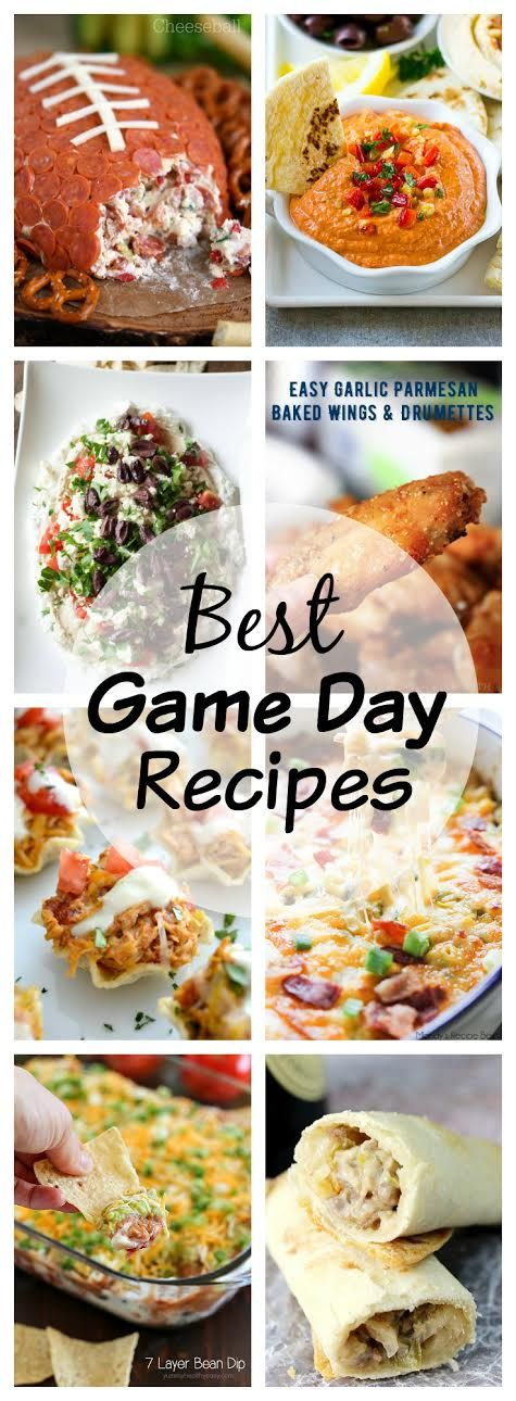 Whether you're inviting a crowd or watching with your family, I'm sharing the BEST Game Day Recipes from some of my favorite bloggers. @lizzydo