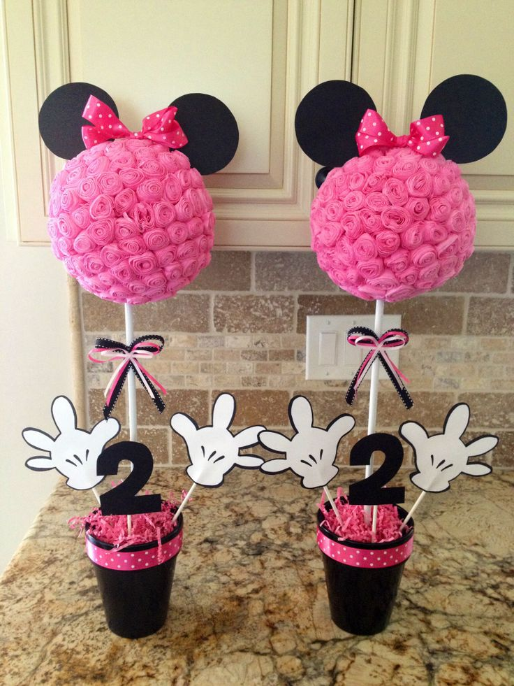 minnie mouse centerpieces 2nd birthday ideas pinterest. Black Bedroom Furniture Sets. Home Design Ideas