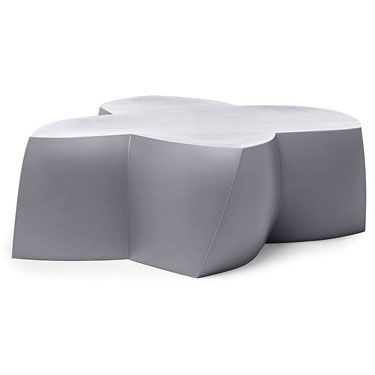 Share and get a 10% off coupon code! Frank Gehry Original Heller Modern Outdoor Coffee Table, Silver | NOVA68 Modern Design